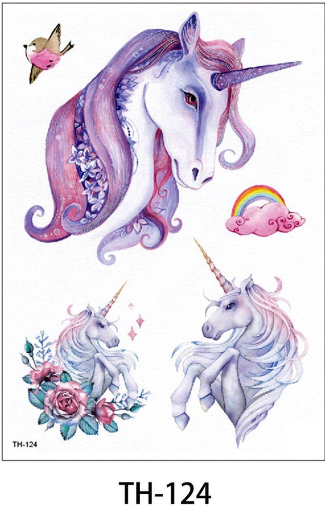 d0af28fce Cute Unique Watercolor Unicorn Temporary Tattoos Ideas for Women for Teens  for Kids - www.MyBodiArt.com #tattoos