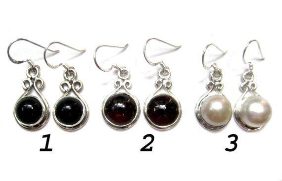 925 Sterling Silver Handmade Earring pair  Semi by finegemstone, $30.00