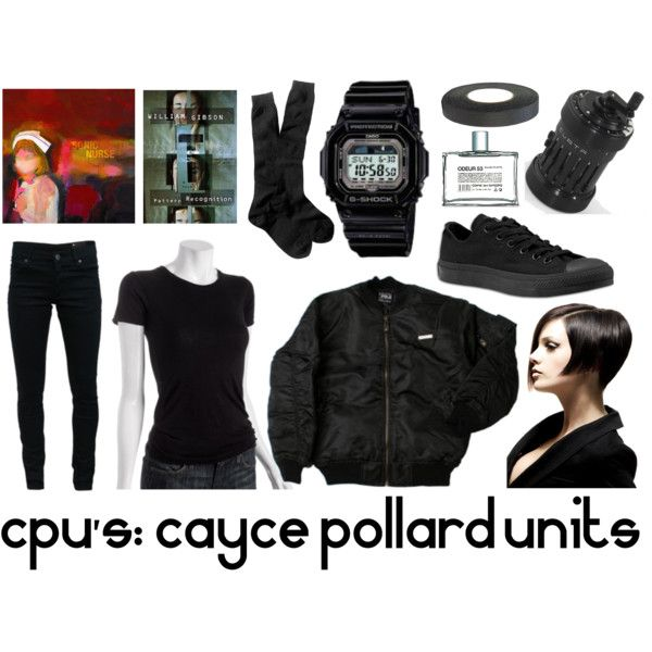 CPU's: Cayce Pollard Units by transceiverfrequency on Polyvore featuring Nation LTD, H.I.P., Cheap Monday, J.Crew, Casio, Converse, Equipment, Comme des Garçons, cyberpunk and fiction