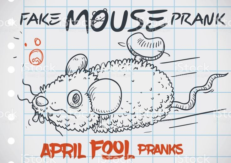 Fake Mouse Prank Doodle for a Funny April Fools' Day