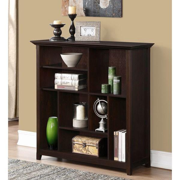 46 h 44 w 16 d Halifax Dark American Brown Crazy Cube Bookcase & Storage Unit - Overstock™ Shopping - Great Deals on WyndenHall Media/Bookshelves