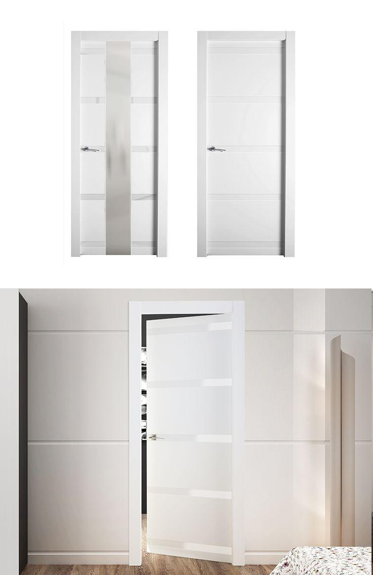 Puerta de interior blanca modelo horus de la serie for Puertas blancas lisas interior