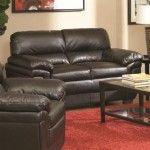 $451.50  Coaster Furniture - Fenmore Casual Split Back Dark Brown Loveseat - 502952