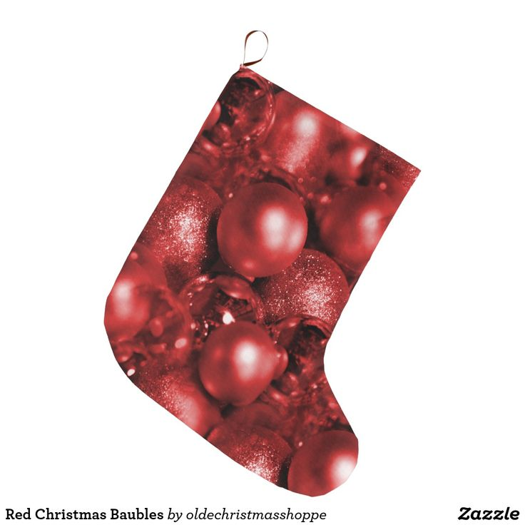 Red Christmas Baubles Large Christmas Stocking