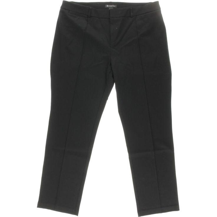 INC Womens Regular Fit Ponte Straight Leg Pants