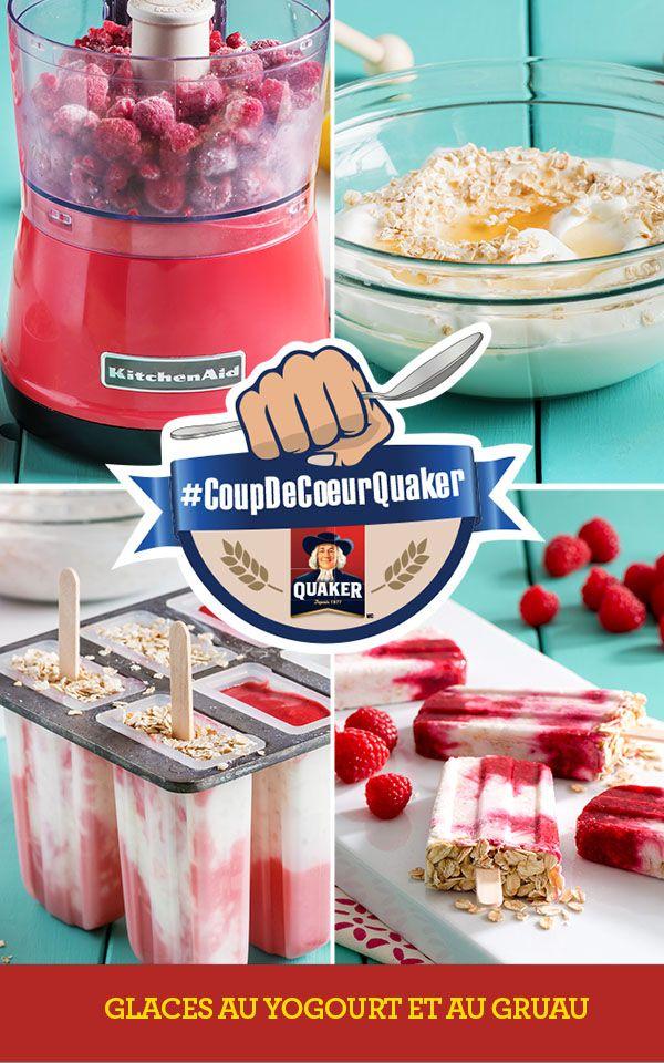 Prenez le contrôle de vos matins en visitant www.coupdecoeurquaker.ca Les enfants vont penser qu'ils mangent du dessert au déjeuner. Belle façon de commencer la journée! Recette complète: http://www.quakeroats.ca/fr/recipes/glaces-au-yogourt-et-au-gruau #CoupdecoeurQuaker