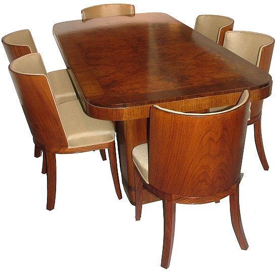 Art Deco Dining Suite Waterfall FurnitureDining