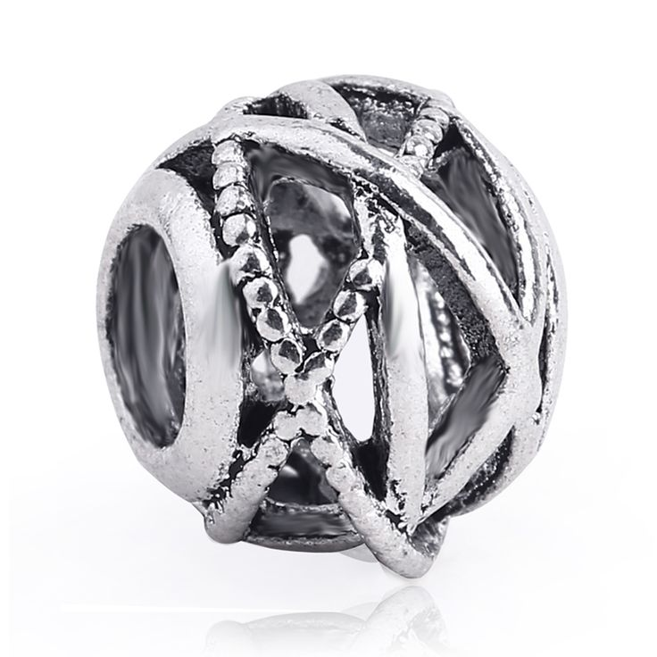 Free Shipping 1PC Silver Hollow Galaxy Beads Charms fit European Pandora Style Charm Bracelets and Necklaces