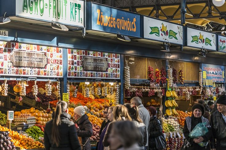 where the locals buy food: the Great Market Hall of Budapest