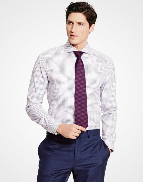 Tommy Hilfiger Tailored Collection Tattersall Shirt http://www.menshealth.com/style/best-dress-shirts/slide/9