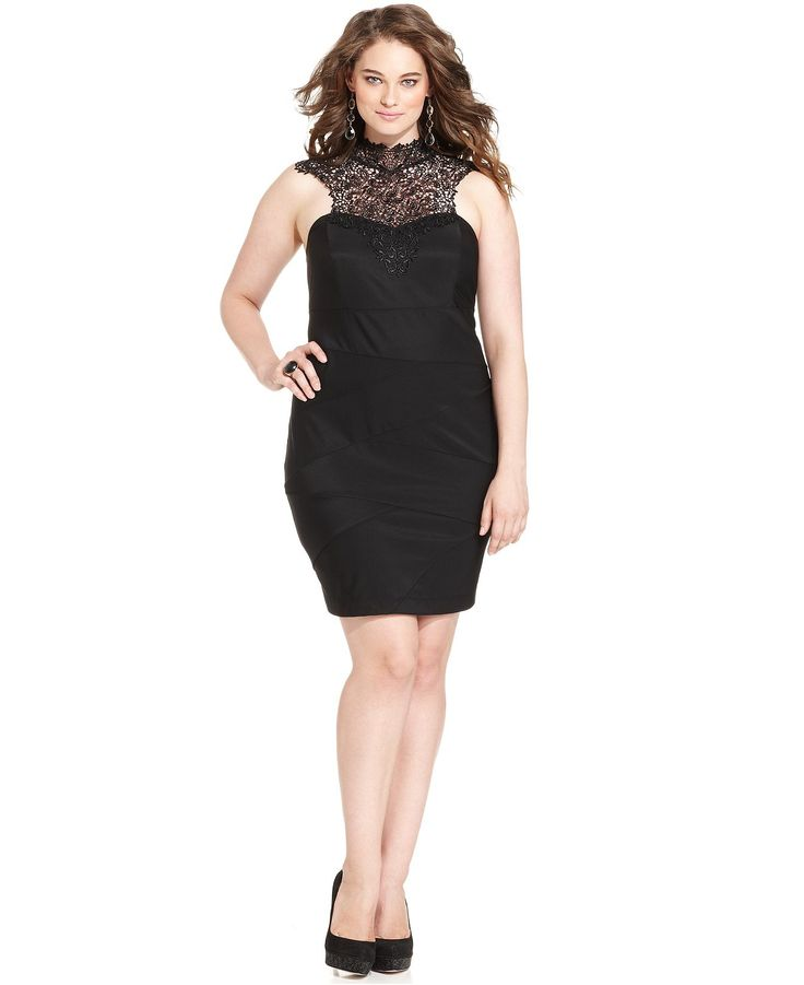 5e28cbf705a Sleeveless Crochet Bodycon - Junior Plus Dresses - Plus Sizes - Macy s