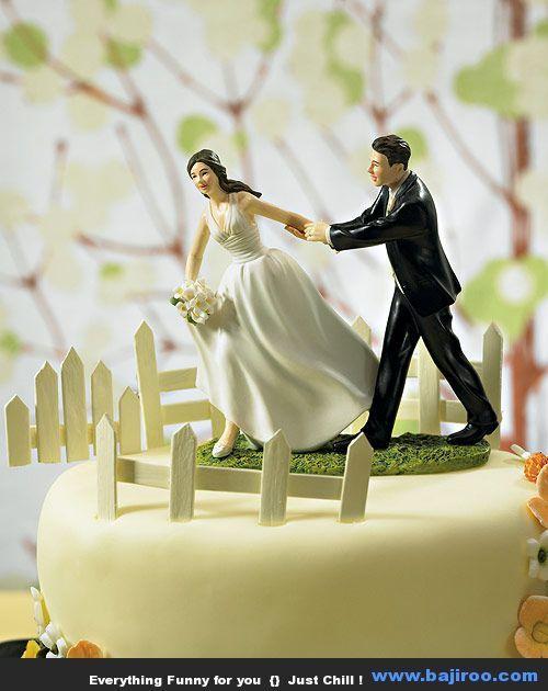Funny Wedding Cake Toppers #wedding #cake