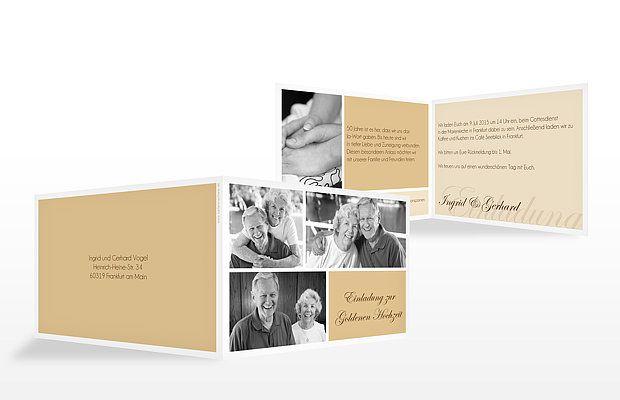 """Einladung Goldene Hochzeit """"Fotowand"""""""