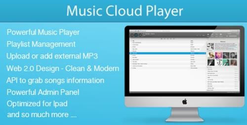 CodeCanyon - Music Cloud Player v1.3