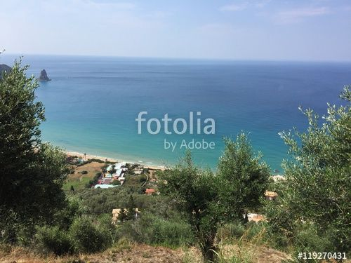 """Download the royalty-free photo """"Island of Corfu, Paleokastritsa, Greece"""" created by Ciaobucarest at the lowest price on Fotolia.com. Browse our cheap image bank online to find the perfect stock photo for your marketing projects!"""