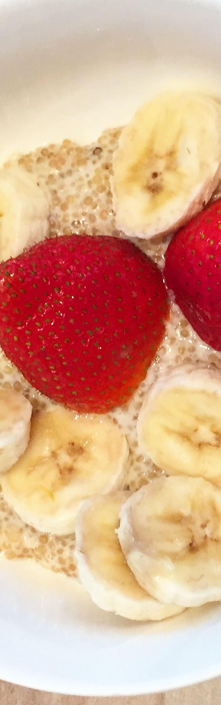 Quinoa Milchreis mit Bananen - (Fitness Food Breakfast)