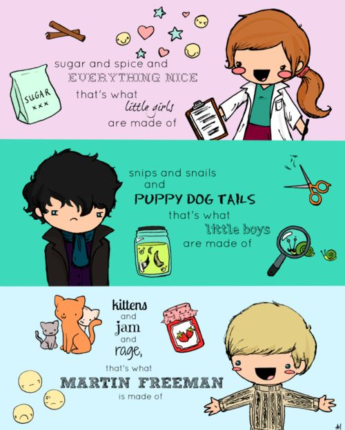 I love this just a little bit too much. Molly, Sherlock, and John show what they're made of