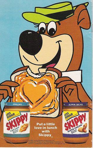 Yogi Bear for Skippy Peanut Butter ad, 1986