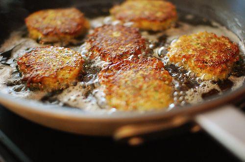 Pan Fried Zucchini Cakes No Parmesan