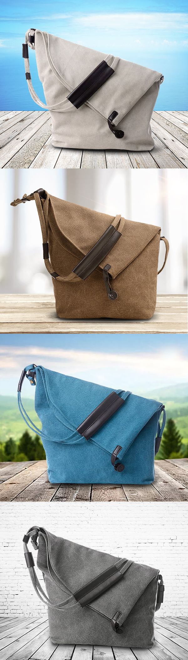 US$23.14  Women Vintage Canvas Casual Large Capacity Crossbody Bags Leisure Retro Shoulder Bags
