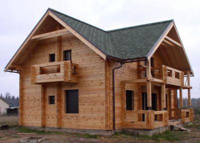 Сборный деревянный дом