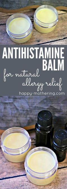 Are you looking for natural allergy relief remedies or products that works? Learn how to make our DIY antihistamine balm. It combines essential oils with natural ingredients for quick and reliable allergy relief. #allergyrelief #antihistamine #naturalremedies #springallergies #naturalallergyrelief #antihistaminebalm #allergybalm #allergies #diyhealth #naturalhealth via @happymothering #diyasthmarelief #naturalasthmarelief