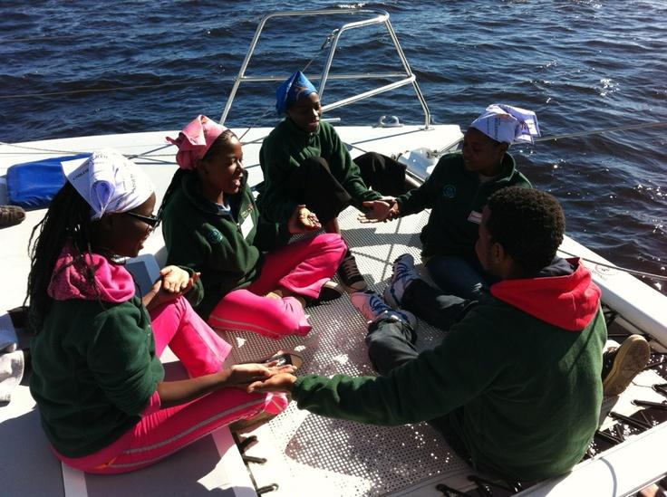 Enjoying a catamaran cruise out of Walvis Bay