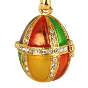 Faberge Egg Style Pendant made with SWAROVSKI® ELEMENTS
