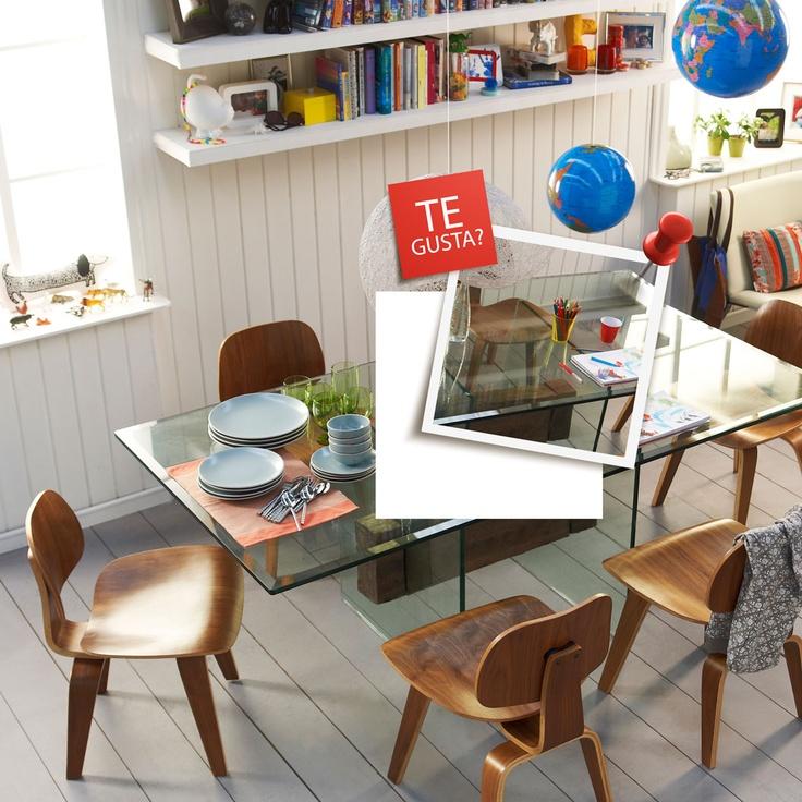 Mesa de comedor con viga de roble, ¿Te gusta? Participa por uno http://eres.ripley.cl/ me gusta demasiado!