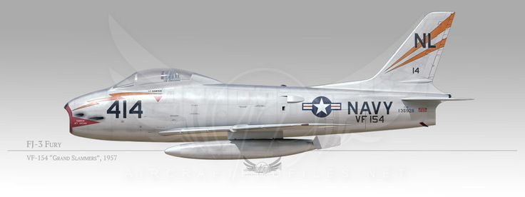 "FJ-3 Fury, VF-154 ""Black Knights"", 1957"
