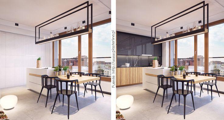 Si la cocina está integrada con el comedor y el estar, y no sos muy fan del arte culinario, todo puede quedar escondido detrás de una falsa pared.