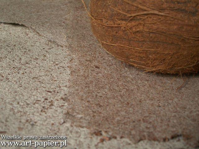 Kokos -  Papiery ręcznie czerpane z dodatkami