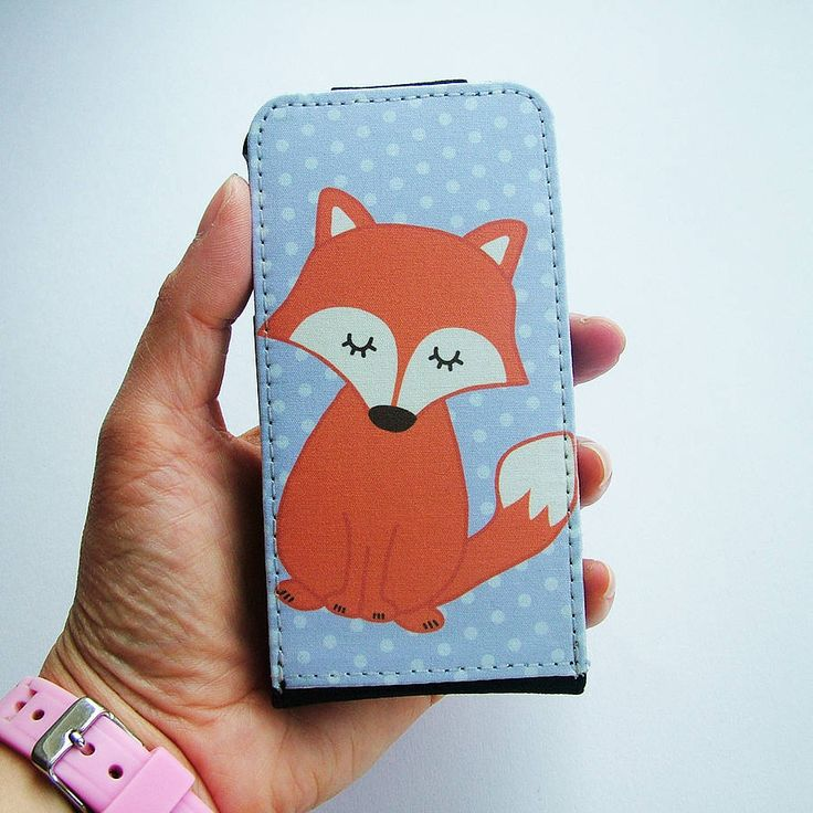 fox flip top iphone case by hoobynoo world | notonthehighstreet.com