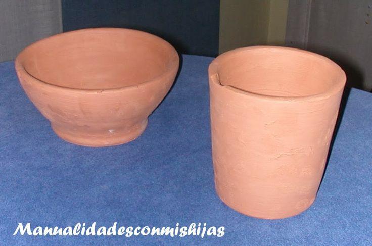 Manualidades con mis hijas: Vasijas de barro - Alfarería