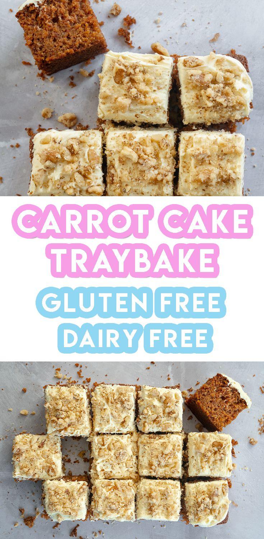 Gluten Free Carrot Cake Traybake Recipe (dairy free, low FODMAP)