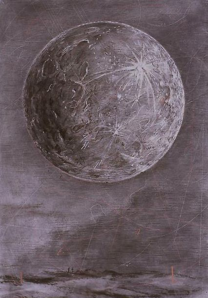 William Kentridge - Moon (2004).