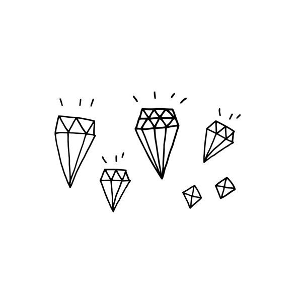 diamonds by tattly