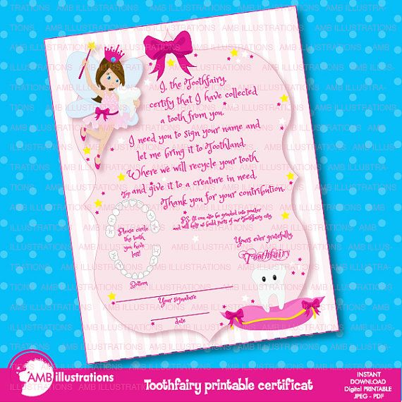 80%OFF Tooth fairy certificate, Printable, certificate, toothfairy certificat, lost a tooth certificat, instant download, AMB-940
