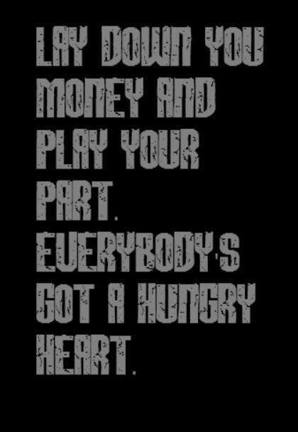 Bruce Springsteen - Hungry Heart - song lyrics
