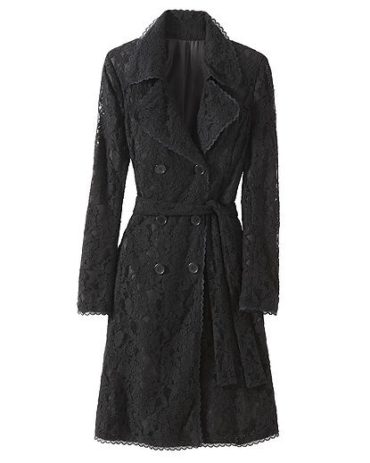 Lace Trench Coat, pretty awesome.Black Lace, Lace Trench, Coats Jackets, Clothing Clothing, Flappers Style, Trench Coats, Lace 20S, Floral Lace, Like Mi Style