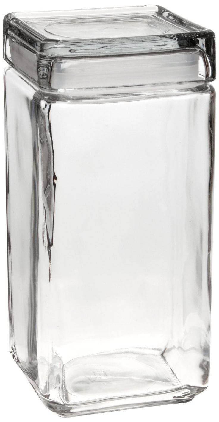 214 best bitchin kitchen images on pinterest flasks brewing anchor hocking 2 quart stackable square clear glass storage jar case of substantial glass block like canisters work and look great in the kitchen but