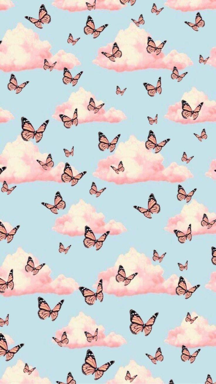 Butterflies fon   Butterfly wallpaper iphone, Cute ...