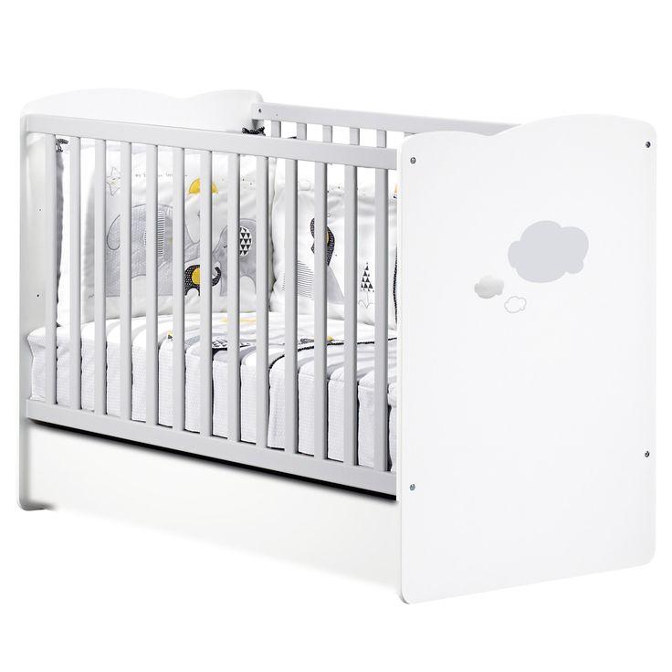 Millie lit bébé 60x120 Blanc 60x120 de Sauthon Sélection, Lits 60x120 non évolutifs : Aubert