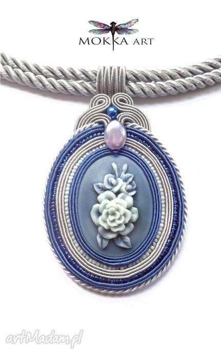 • collares únicos, joyas - colgante de collar azul trenza