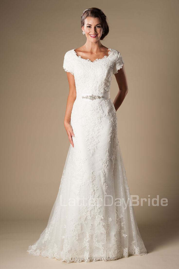 Emmerson- modest lace fit and flare- $1250- found at Gateway Bridal in Salt Lake
