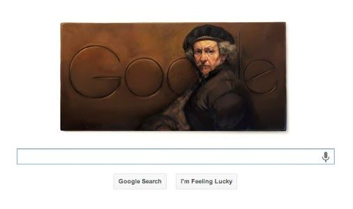 Today +Google is celebrating #Dutch painter +Rembrandt van Rijn's 407th #Birthday through a #doodle  featuring his self #portrait.
