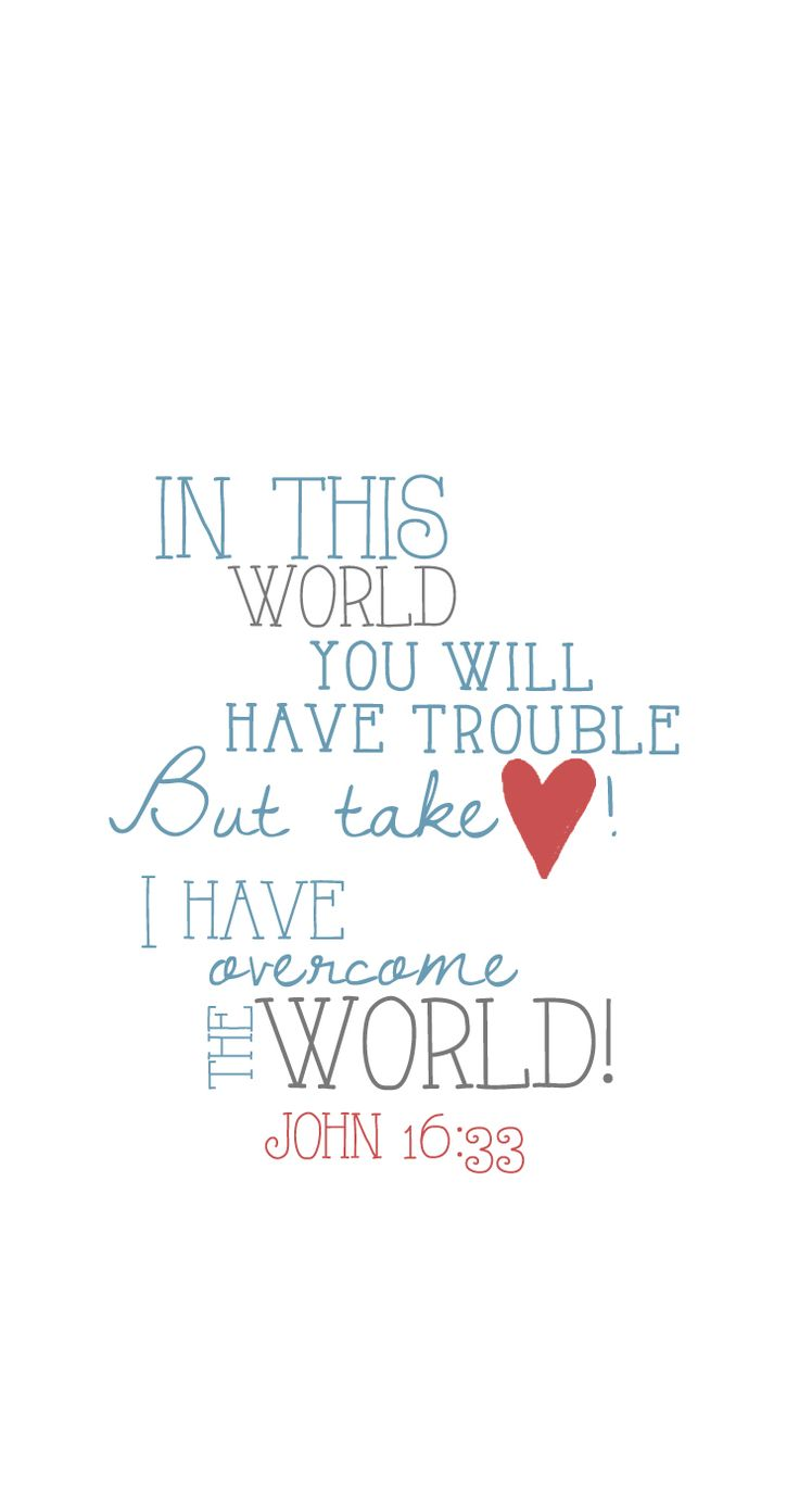 Weekly truth & iPhone lock screen from @thrive_moms John 16:33