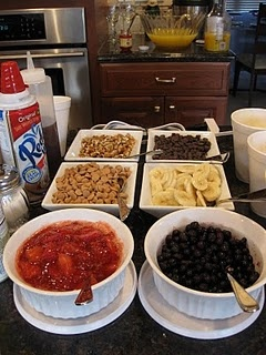 Waffle Bar, how fun is this? I have to remember this for DS's next sleep over.