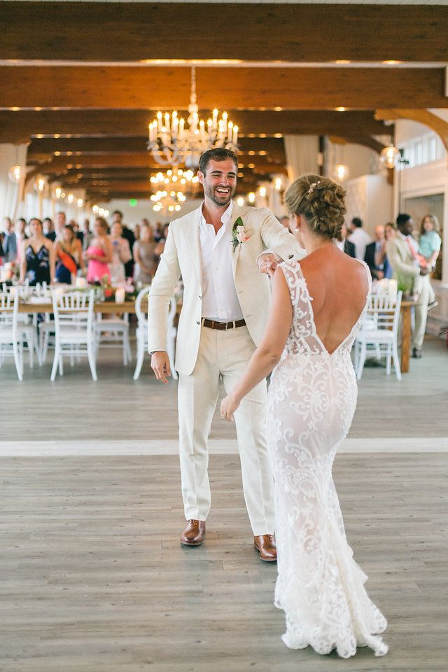 Cape Cod Wedding, Wychmere Beach Club, Zev Fisher Photography, wedding, beach, coastal, wedding, cape cod, reception, florals, first dance, wedding dress, open back dress, wychmere, longwood venues, dance, beach wedding dress