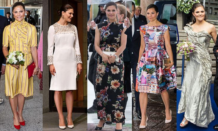 CROWN PRINCESS VICTORIA OF SWEDEN  Sweden's future Queen definitely embraced color, prints and feminine silhouettes this year. While she does step out in designer clothes, she's just as likely to be seen in custom and off-the-rack looks from H&M – like the brand's 2017 collaboration with Erdem – as she flies the flag for Swedish fashion.